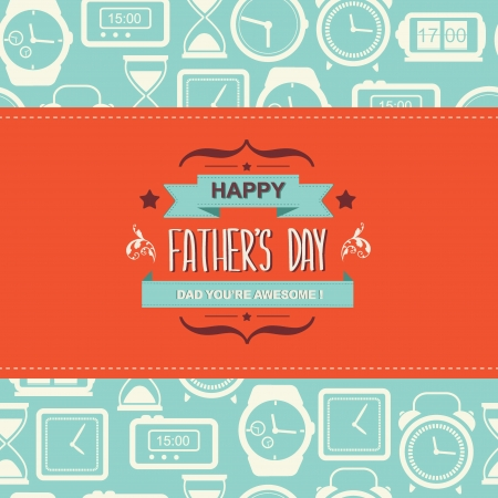father day: Poster Happy father s day Typography illustration  Illustration