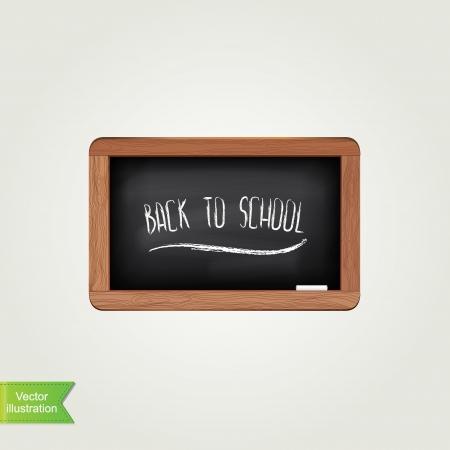 Black chalkboard isolated illustration  Vector