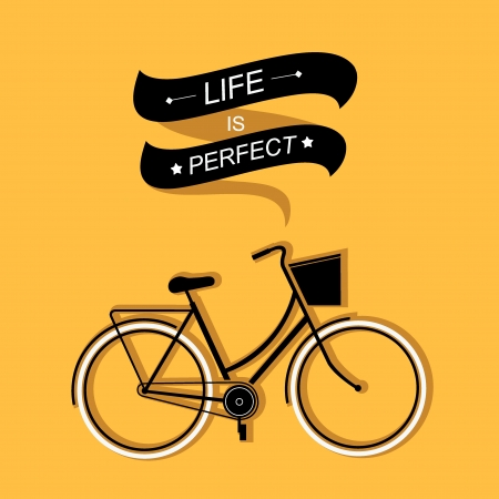 Summer poster with bicycle.Typography.Vector illustration. Vector