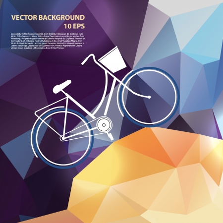 Summer poster with bicycle  Vector illustration