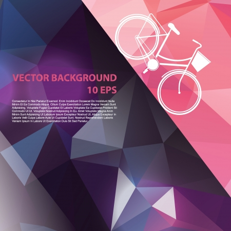 pedal: Summer poster with bicycle Vector illustration  Illustration