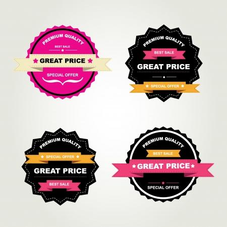 join now: Set of labels Best sale Vector illustration