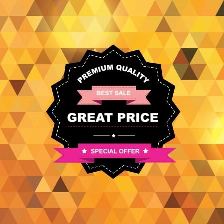 referral: Label Best sale Vector illustration  Illustration