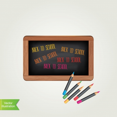 Poster Back to school Typography Vector illustration  Vector