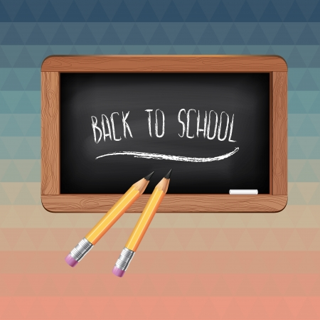Poster Back to school Typography illustration  Vector