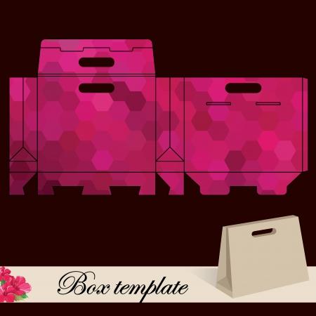 die cut: Gift box template