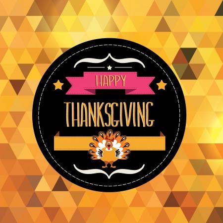 thanksgiving day symbol: Poster con tacchino tipografia Illustrazione