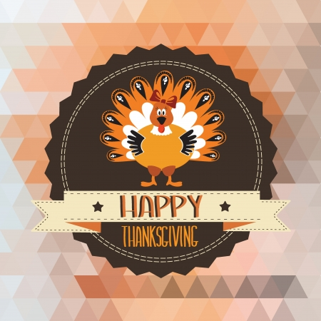 Poster with turkey Typography illustration  Vector