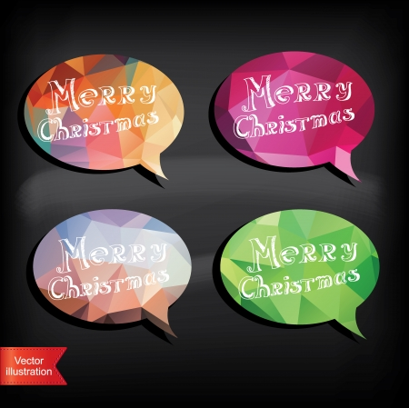 Bubble Merry Christmas Typography illustration Stock Vector - 22242694
