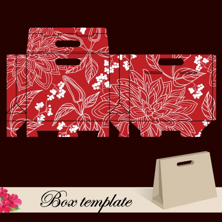 Gift box template Print  Cut along solid outer border with scissors  Fold back on dashed lines to form your favor box  Use adhesive to secure side and bottom flap
