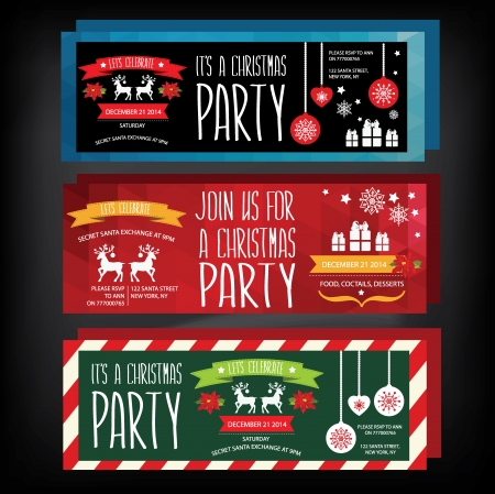 Invitation Merry Christmas.Typography.Vector illustration. Vector