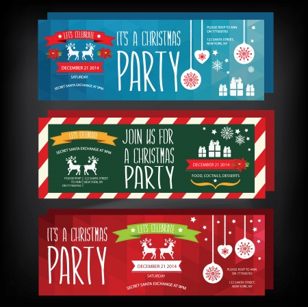 Invitation Merry Christmas.Typography.Vector illustration. Vector