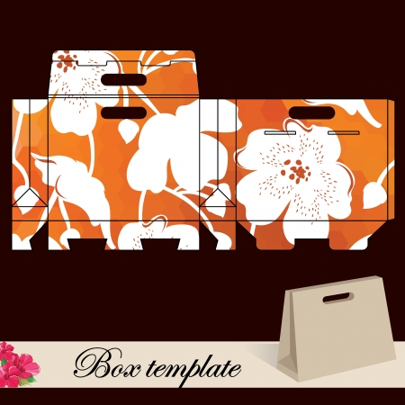 Gift box template Print  Cut along solid outer border with scissors  Vector