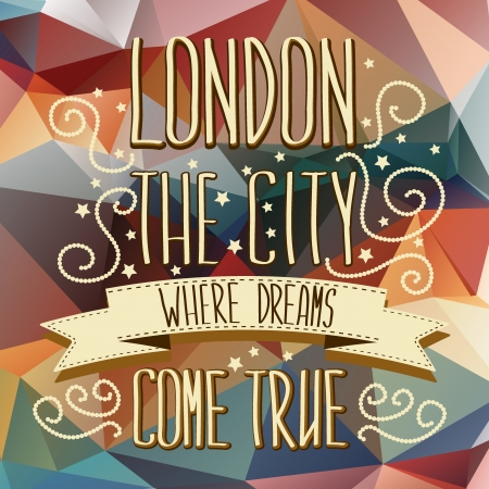 London poster Typography Vector illustration  Vector