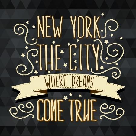 ニューヨーク ポスター タイポグラフィ ベクトル イラスト