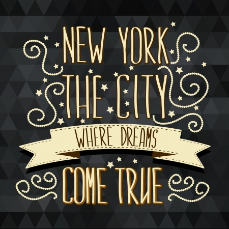 New York poster Typography Vector illustration  Иллюстрация