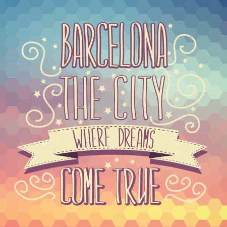 Barcelona poster Typography Vector illustration  Vector