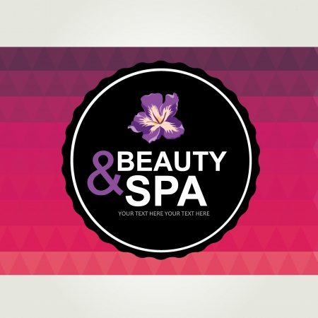 Icon design, spa and beauty   Vector