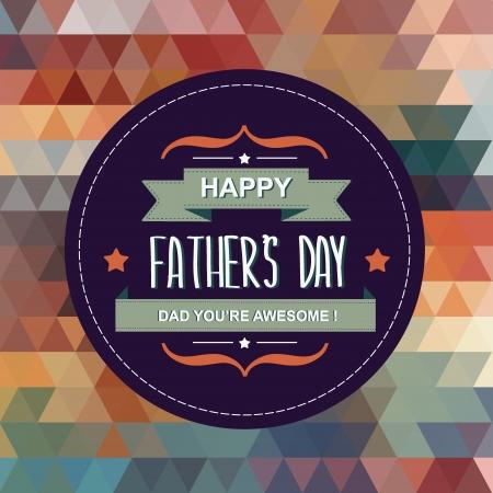 te amo: Ilustraci�n day.Typography.Vector Poster de padre feliz. Vectores