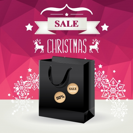 Christmas Poster Sale Typography Vector illustration
