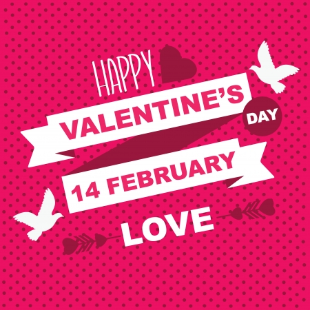 Valentine s Day poster Typography Vector illustration Stock Vector - 24382407