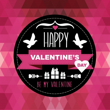 Valentine s Day poster Stock Vector - 24382444