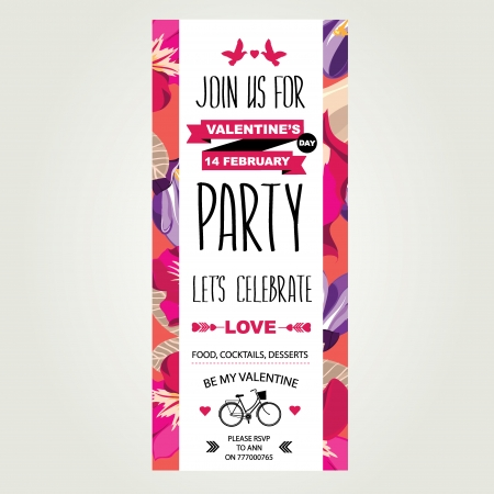 Invitation Valentine s Day  Vector