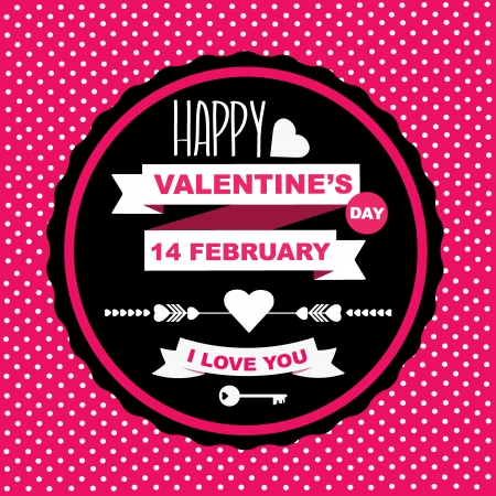 Valentine s Day poster Typography Vector illustration  Stock Vector - 24382446