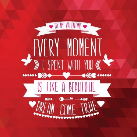 valentines: Valentines Day poster.Typography.Vector illustration.
