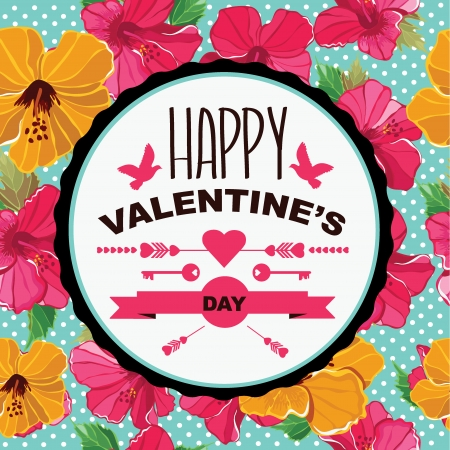 Valentines Day poster.Typography.Vector illustration. Vector