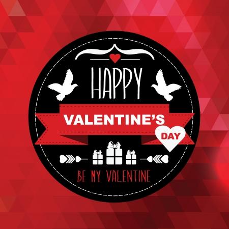 バレンタインの日のポスター。Typography.Vector の図。  イラスト・ベクター素材