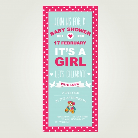Baby shower Es sa chica Foto de archivo - 24869246