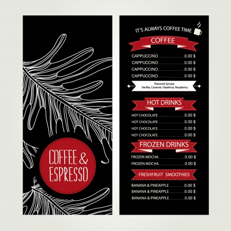 Cafe menu, template design  Vector illustration Stock Vector - 24869284