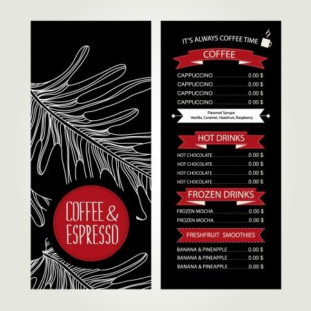 Cafe menu, template design  Vector illustration Stock Vector - 24869284