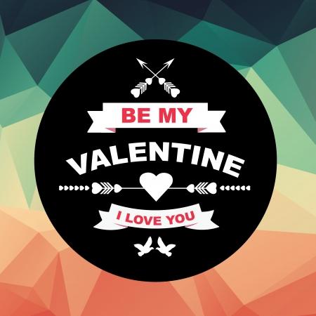 Valentine poster Vector