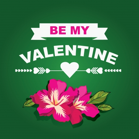 Valentines Day poster.Typography. Vector