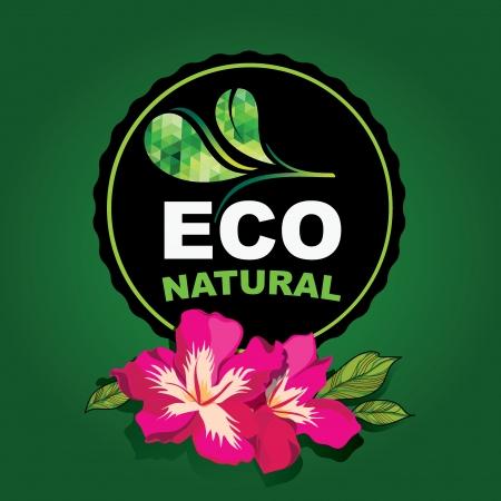 Diseño del icono, orgánico y la naturaleza. Ilustración de vector