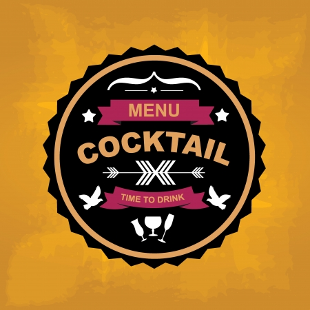 cocktail bar: Cocktail bar menu, template design Vector illustration  Illustration