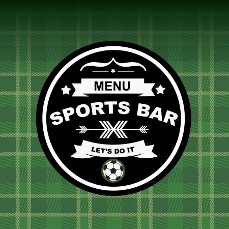 Sports bar menu, template design.Vector illustration. Vector