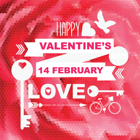 Valentine's Day poster.Typography.Vector illustration. Vector