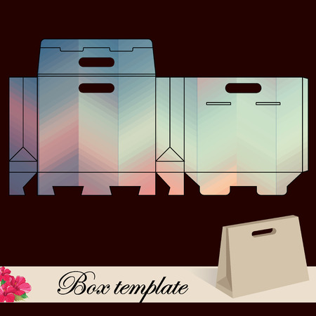 favor: Gift box template.Print. Cut along solid outer border with scissors. Fold back on dashed lines to form your favor box. Use adhesive to secure side and bottom flap.