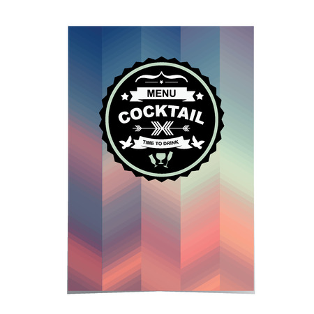 old bar: Cocktail bar menu, template design Vector illustration  Illustration
