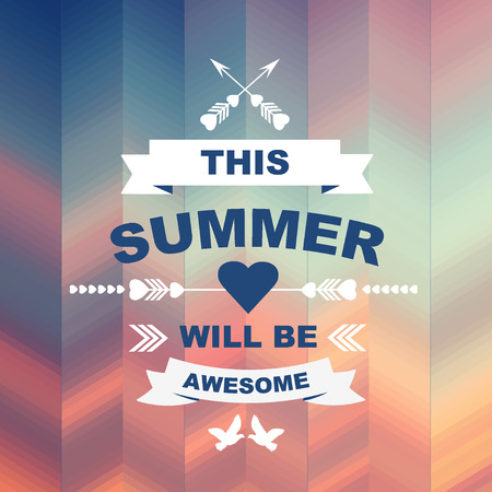 best party: Summer poster Typography Vector illustration