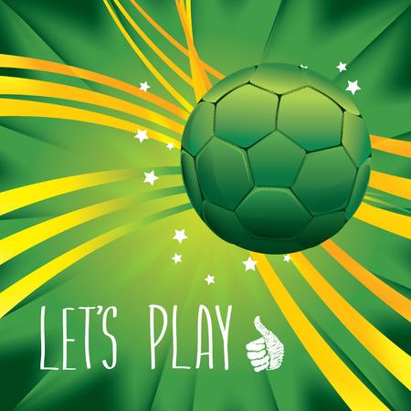 Poster soccer world game  Design concept brazil  Vector illustration