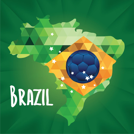 Poster soccer world game  Design concept brazil  Vector illustration  Vector