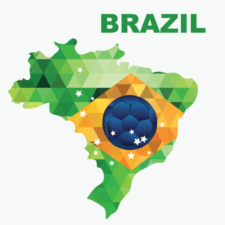Poster soccer world game  Design concept brazil  Vector illustration  Vector