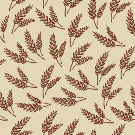 Seamless pattern wheats  Bakery design  Vector illustration  Vector
