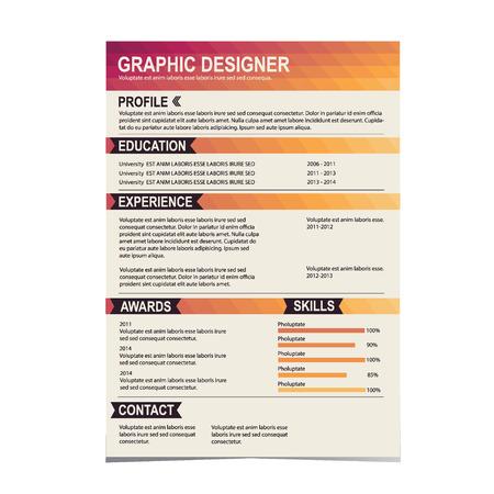 creative: Resume template  Cv creative background  Vector illustration