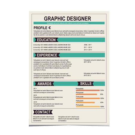resume: Resume template  Cv creative background  Vector illustration