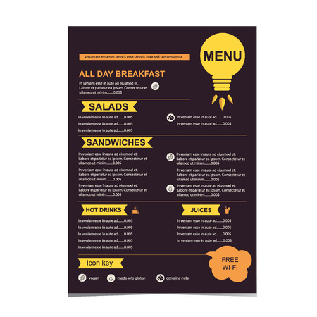 Cafe menu, restaurant template design.Vector illustration. Vector